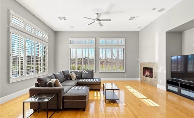 living room remodel with interior paint