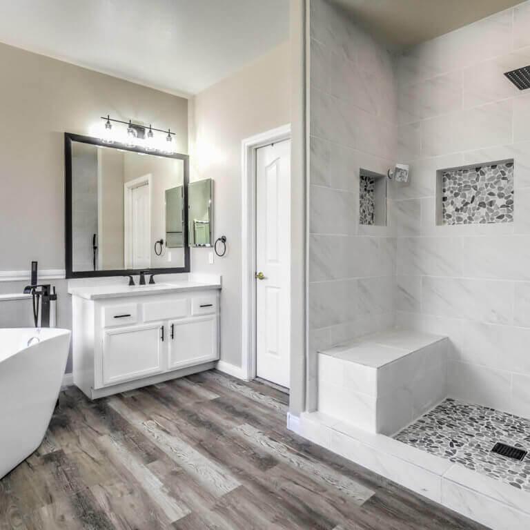 small luxury bathroom remodel las vegas
