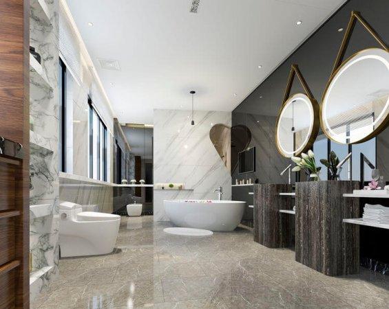 luxury bathroom remodel downtown las vegas condo